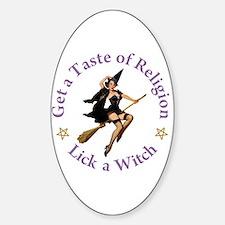 Get A Taste of Religion Sticker (Oval)