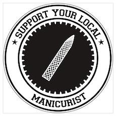 Support Manicurist Poster