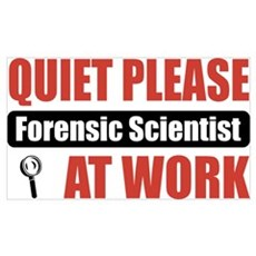 Forensic Scientist Work Poster