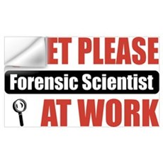 Forensic Scientist Work Wall Decal