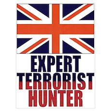 UK FLAG EXPERT TERRORIST HUNT Poster