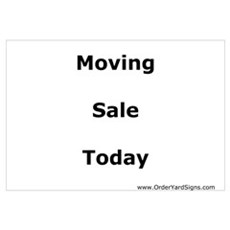 Moving Sale Poster