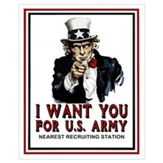 I Want You <BR>Small Recruiting Framed Print