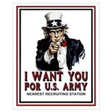 I Want You <BR>Small Recruiting Poster