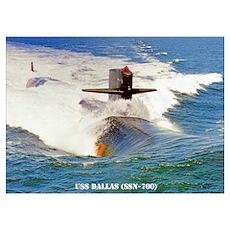 USS DALLAS Poster