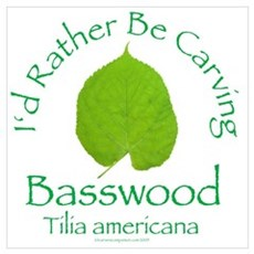 Rather Be Carving Basswood 1 Canvas Art