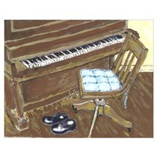 Piano and Chair 16X20 Print Poster