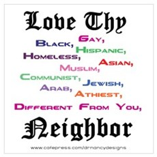 Love Thy Neighbor Framed Print