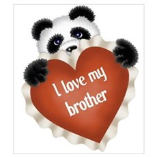 Panda - I Love My Brother Poster
