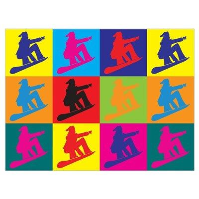 Snowboarding Pop Art Poster
