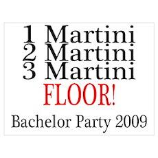 1 Martini, 2 Martini, 3 Martini, Floor Poster