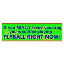 Flyball Guilt Trip Bumper Sticker