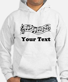 Music Staff Personalized Hoodie