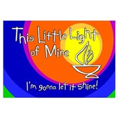 """This Little Light of Mine"" Print - 11x17 Canvas Art"