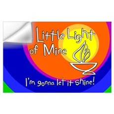 """This Little Light of Mine"" Print - 11x17 Wall Decal"