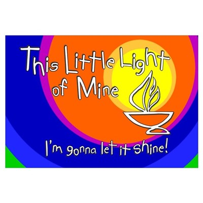 Quot This Little Light Of Mine Quot Print 11x17 Framed Print