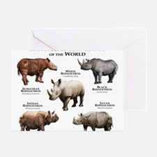 Rhinos of the World Greeting Card