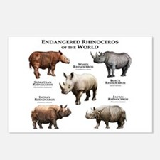 Rhinos of the World Postcards (Package of 8)