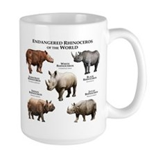 Rhinos of the World Mug