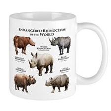 Rhinos of the World Small Mug