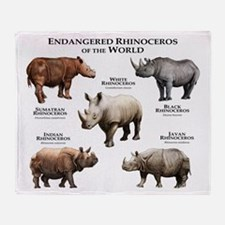 Rhinos of the World Throw Blanket