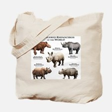 Rhinos of the World Tote Bag
