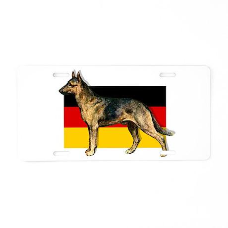 Alsatian German Shepherd Aluminum License Plate