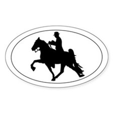 Tennessee Walker Silhouette Oval Decal