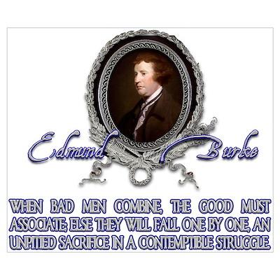 Edmund Burke: When Bad Men Co Poster