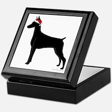 Doberman Santa Keepsake Box