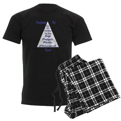 Pennsylvanian Food Pyramid Men's Dark Pajamas