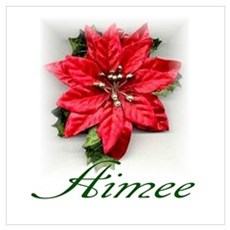 Poinsettia Aimee Poster