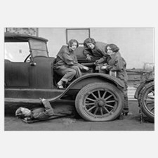 Young Lady Auto Mechanics, 1927
