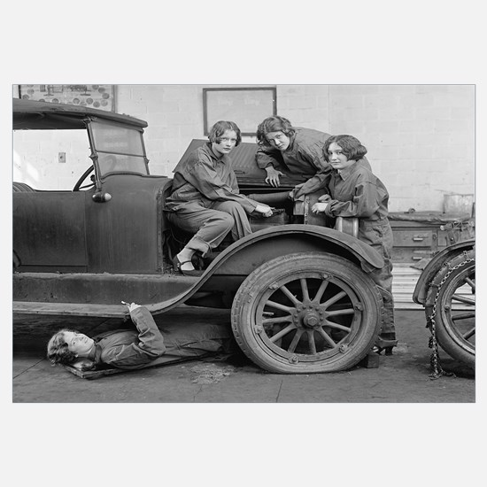 Young Lady Auto Mechanics, 1927