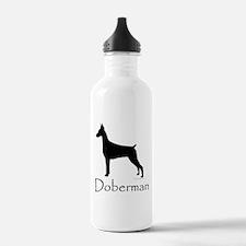 Doberman Silhouette Water Bottle