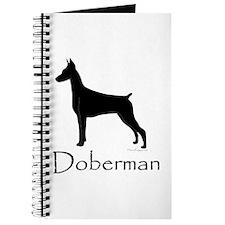 Doberman Silhouette Journal