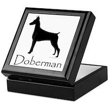 Doberman Silhouette Keepsake Box