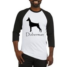 Doberman Silhouette Baseball Jersey