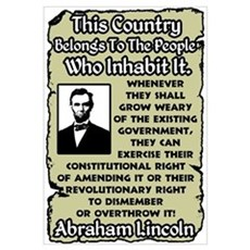 """Lincoln: Overthrow The Government"" Poster"