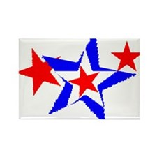 PATRIOT STARS III RED WHITE & Rectangle Magnet