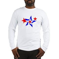 PATRIOT STARS III RED WHITE & Long Sleeve T-Shirt