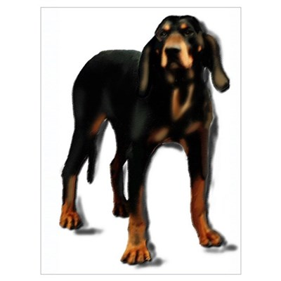 black and tan hound Framed Print
