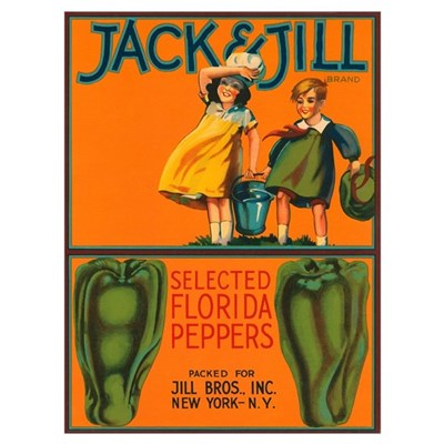 Vintage Jack and Jill Peppers Poster