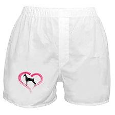 Heart My Doberman Boxer Shorts