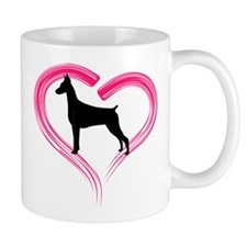 Heart My Doberman Mug