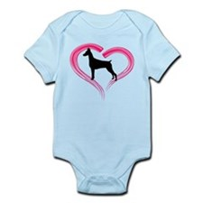 Heart My Doberman Onesie