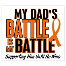 My Battle Too (Dad) Orange Canvas Art