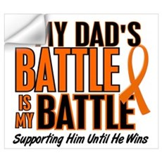 My Battle Too (Dad) Orange Wall Decal