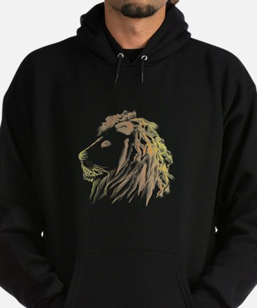 Smoking Lion with Color Hoodie (dark)