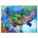 Turtles Wrapped Canvas Art